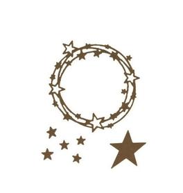 Wykrojnik Ramka okrągła Gwiazdki (4077-X4)