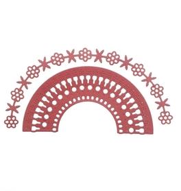 Wykrojnik Border półokrągły + Kwiatki (7092-R2)
