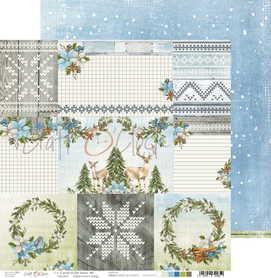 Arkusz papieru CC 30x30cm CAROLS IN THE SNOW - 06