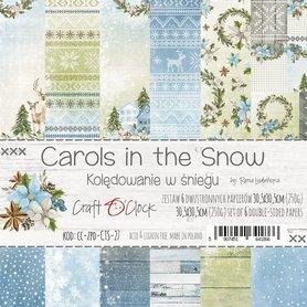 CAROLS IN THE SNOW - zestaw papierów 30,5x30,5cm