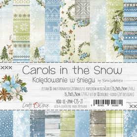CAROLS IN THE SNOW - zestaw papierów 15,25x15,25cm