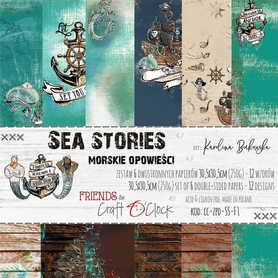 SEA STORIES - zestaw papierów 30,5x30,5cm