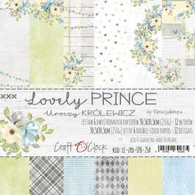 LOVELY PRINCE - zestaw papierów 30,5x30,5cm