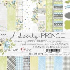 LOVELY PRINCE - zestaw papierów 15,25x15,25cm