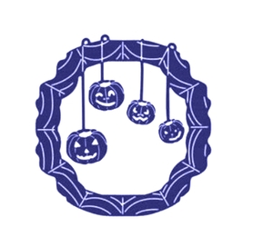 Wykrojnik Halloween Ramka Dynie (0255-I2)
