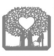 Wykrojnik Ramka zginana Drzewo Para duża (22819/4-K3)