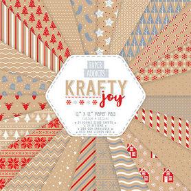 Zestaw papierów - Paper Addicts - Krafty Joy 30x30