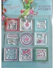Zestaw 9 stempli silikonowych Znaczki świąteczne