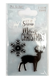 Zestaw 3 stempli silikonowych - Let It Snow
