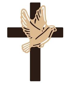 Wykrojnik Krzyż i gołąb (2772-B3)