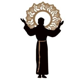 Wykrojniki Kaznodzieja Ksiądz + ornament (2773-A3)