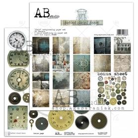 AB 'Behind closed doors' 8 arkuszy 30x30cm + bonus