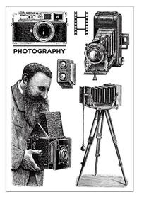 Stemple silikonowe Vintage Photography (7919/4- ST1)