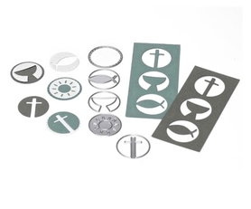 Wykrojnik Pięć ramek - Symbole religijne (2110-H4)