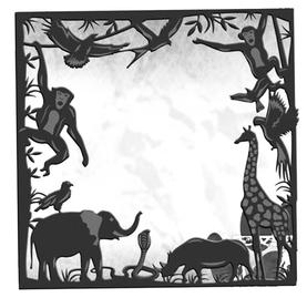 Wykrojnik Ramka ze zwierzętami (13614-R4)