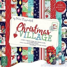 Zestaw papierów 15x15 - Christmas Village 48 ark.