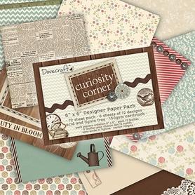 Zestaw papierów 15x15 - Curiosity Corner 72 ark.