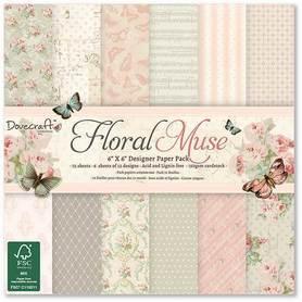 Zestaw papierów 15x15 - Floral Muse 72 ark.