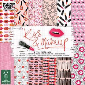 Zestaw papierów 15x15 - Kiss & Make Up 72 ark.