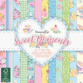 Zestaw papierów 15x15 - Sweet Moments 48 ark.