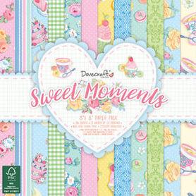 Zestaw papierów 20x20cm - Sweet Moments 36 ark.