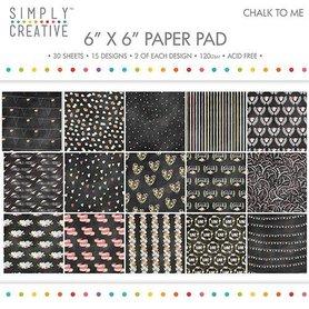 Zestaw papierów 15x15 - Chalk to Me 30ark.