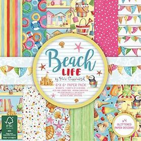 Zestaw papierów 15x15cm - Beach Life - 48 ark.