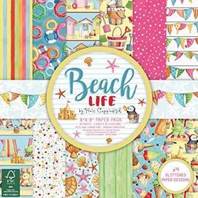 Zestaw papierów 20x20cm - Beach Life - 36 ark.