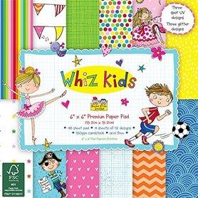 Zestaw papierów 15x15cm - Whiz Kids - 48 ark.