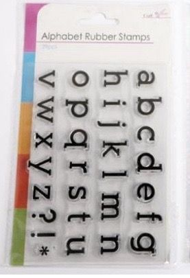 Stemple silikonowe SIl Lowercase Alphabet