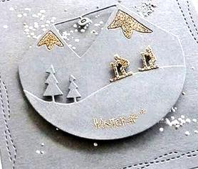 Wykrojnik Dwie ramki okrągłe zimowe (13919/1-M2)