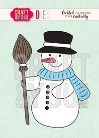 CW077 Wykrojnik - Snowman - Bałwanek