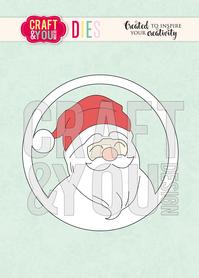 CW073 Wykrojnik - Santa Claus / św. Mikołaj