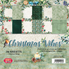 CPB-CV15 Zestaw papierów 15x15 - Christmas Vibes