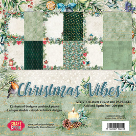 CPS-CV30 Zestaw papierów 30x30cm - Christmas Vibes