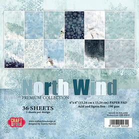 CPB-NW15 Zestaw papierów 15x15 - North Wind
