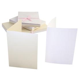 Zestaw 50 kart i kopert A6 Anita's białe i kremowe