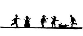 Wykrojnik - Scena zimowa Dzieci (H4029-O4)