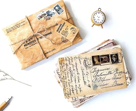 Zestaw 30 pocztówek z dawnych czasów vintage