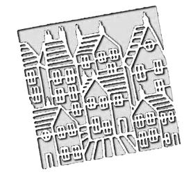 Wykrojnik - Ramka wewnętrzna domki (H3641-P3)