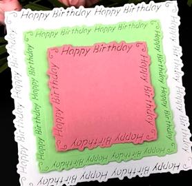 Wykrojnik Trzy ramki Happy Birthday (AC919/11-I3)
