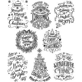 Stemple silikonowe Christmas (410-ST5)