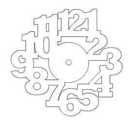 Wykrojnik - Zegar (2743-I2)
