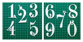 Wykrojnik - 10 cyfr z ptaszkami Duże (1110/1-A2)