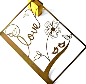 Wykrojnik - Ramka Love Ptaszki Kwiaty (1465-X2)