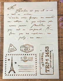 Szablon A4 - Postcard from Paris (STENA4-3)