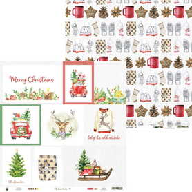 P13-CHT-05 Arkusz Christmas Treats 05 - 30x30cm