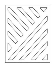 Wykrojnik - Tło w paski (687-S4)