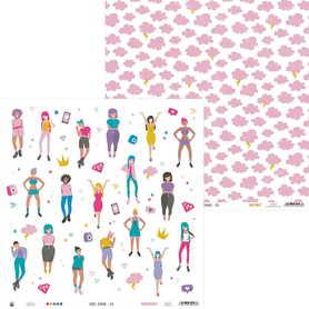P13-GRL-01  Girl Gang 01 - 30x30cm