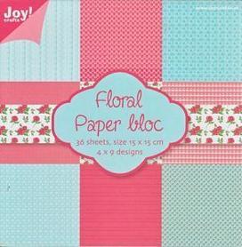 Papiery Joy 15x15cm Floral bloc